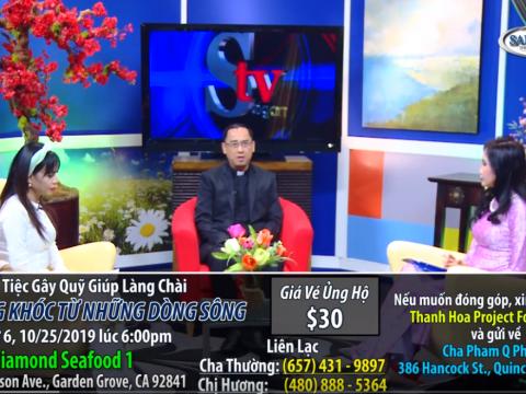 Talk Show: phỏng vấn cha GĐ Caritas Thanh Hóa với đài Saigon TV – Tiếng khóc từ những dòng sông