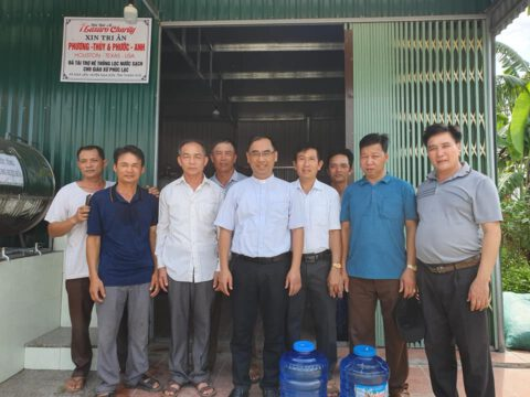 Khánh thành nhà máy lọc nước giáo xứ Phúc Lạc, xã Nga Liên, huyện Nga Sơn, tỉnh Thanh Hoá.