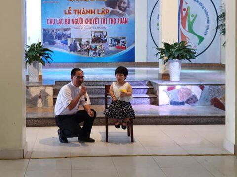 Bài nói chuyện của chị Thu Hiền, chủ tịch CLB Nữ Khuyết Tật tỉnh Thanh Hoá